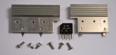 Salvaged ATX PSU transistor heatsinks