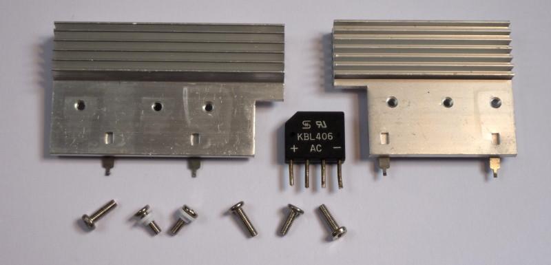 Salvaged ATX PSU transistor heatsinks