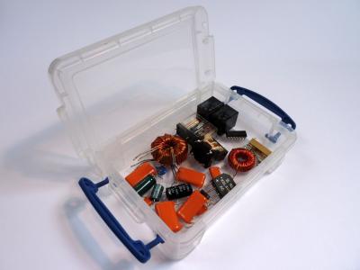 Salvaged parts box