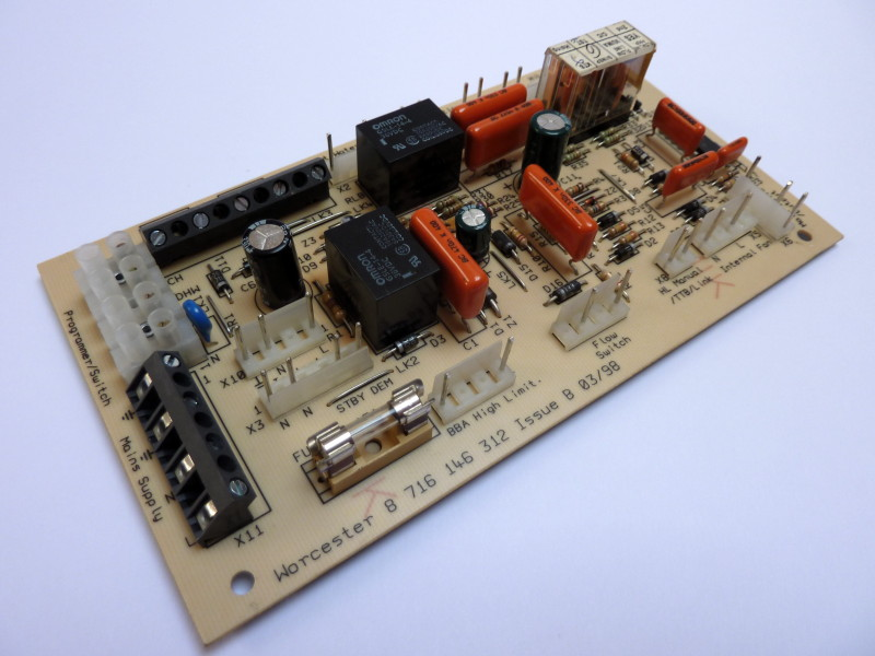 Central heating boiler relay board