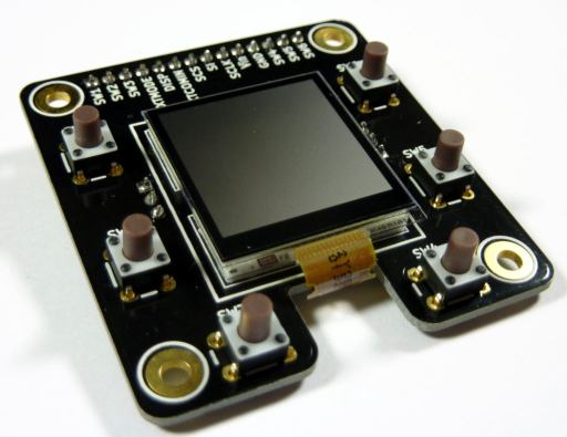 """MakerDyne Sharp Memory LCD Breakout Board 1.28"""" 45Degree View LongSwitches"""