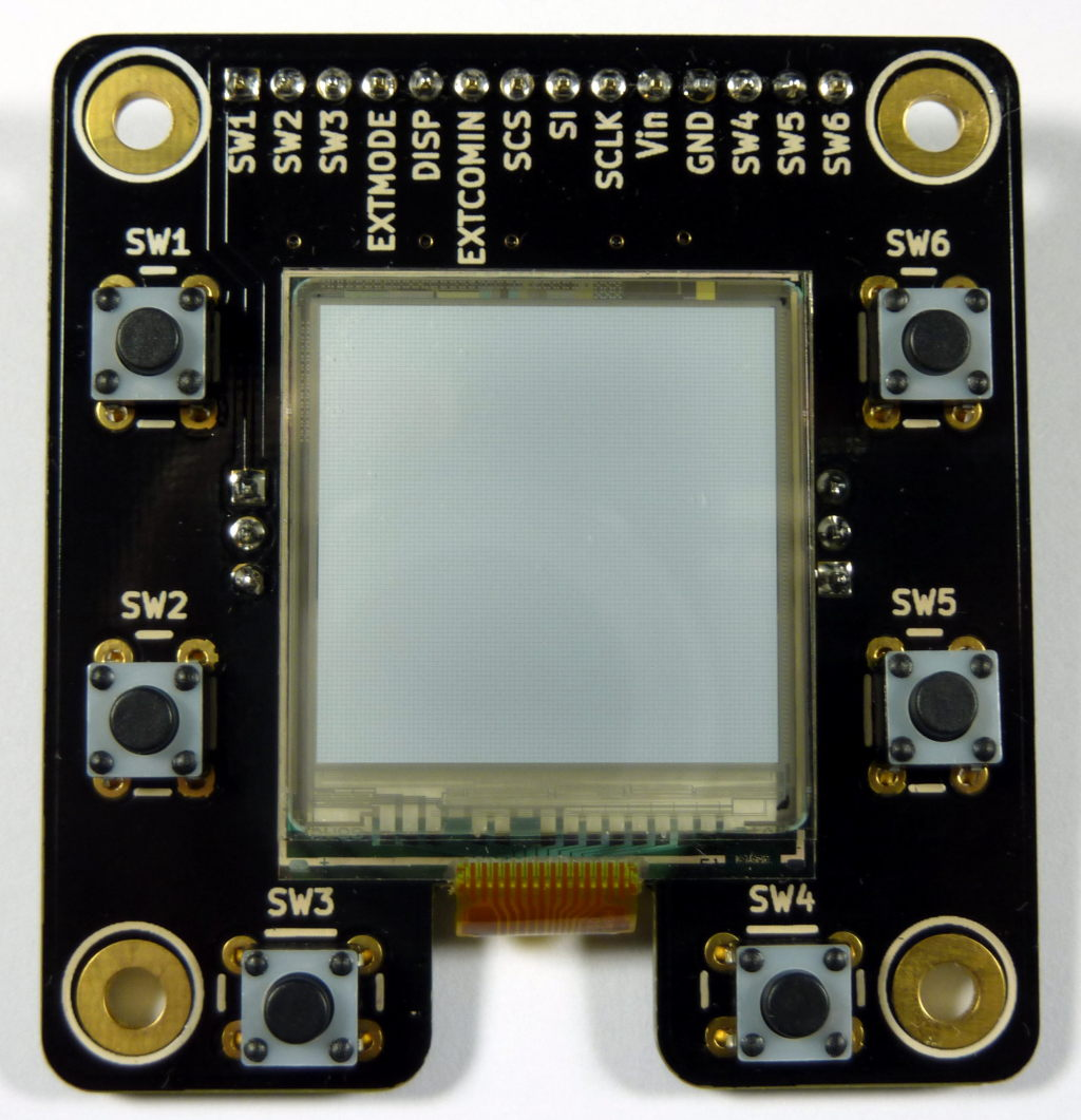 "MakerDyne Sharp Memory LCD Breakout Board with 1.35"" LCD"