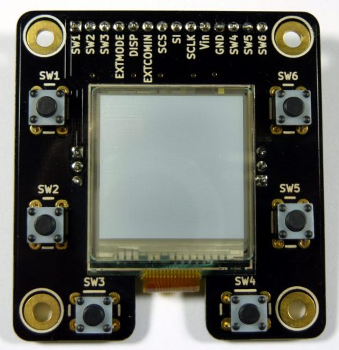 """MakerDyne Sharp Memory LCD Breakout Board with 1.35"""" LCD"""