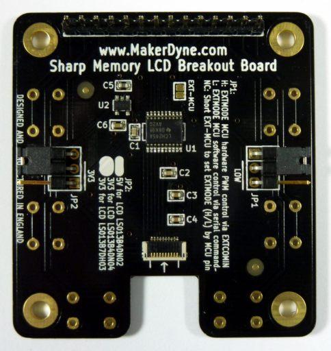 MakerDyne Sharp Memory LCD Breakout Board Small Back
